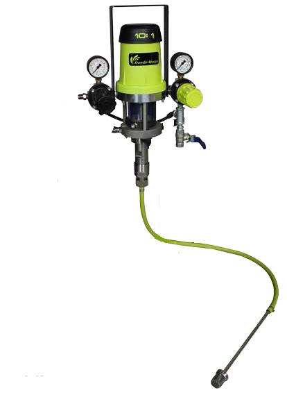 Eos 10 C18 Airmix Paint Pump With 5 Gallon Suction Rod
