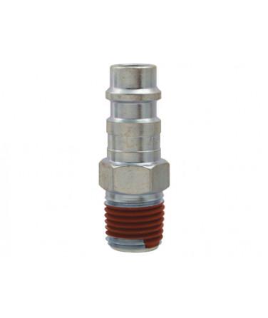 "Air Fitting - Plug 1/4"" Male Ultraflo Interchange with Teflon"