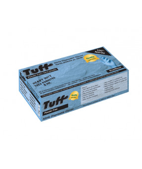 Super Tuff Blue Nitrile Glove, 8 mil, Powder Free - Multiple Sizes