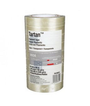 3M Filament Tape 8934 Clear, 24 mm