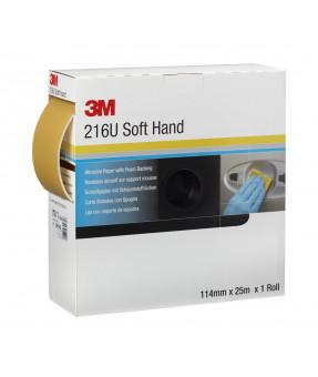 "3M™ Precut Soft Hand Rolls, 216U, 50333, P240, 4.5"" x 5.75"" - 27 yard roll"