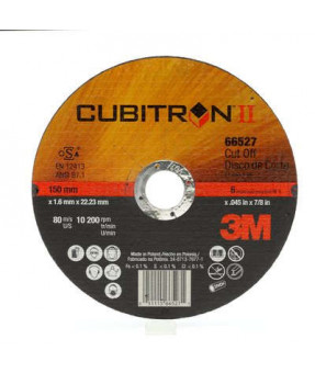 3M™ Cubitron™ II Cut-Off Wheel, 66526, T1, 5 in x .045 in x 7/8 in