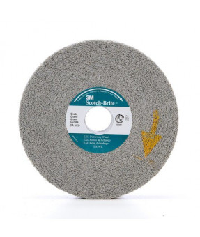 3M Scotch-Brite EXL Deburr and Finish Unitized Wheel, 1 1/2 in x 1/4 in x 1/8 in, 2S Fine