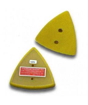 "2-7/8"" (73 mm) W x 3-1/8"" (79 mm) L Non-Vacuum Dynafine Triangular Disc Pad, Hook-Face, Short Nap"