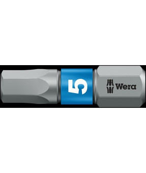 "Wera Hex-Plus Driver Bit, 3mm x 25mm (1"") Long"