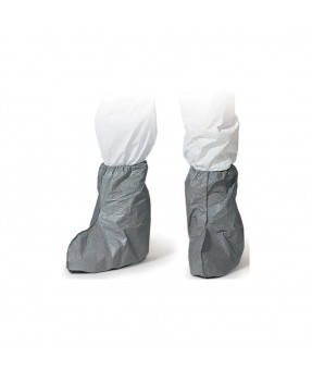 "18"" Tyvek Boot Cover, Skid Resistant Sole, Serged Seams, Grey, 100/case"