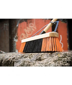"Professional Series Broom with 18"" Block, 60"" Handle, comes with steel brace"