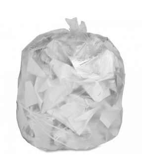 Clear Garbage Liners, Extra Heavy, 35x50