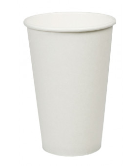Plain White Coffee Cup, 16oz