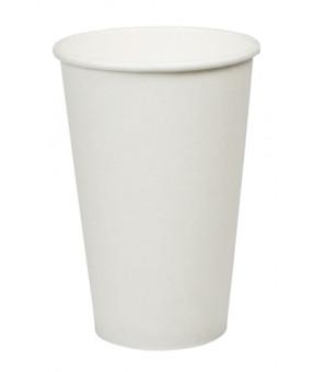 Plain White Coffee Cup, 16oz