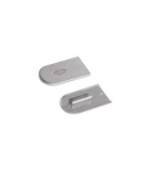Lamello Cabineo Cover Caps Plastic Metal Look Silver