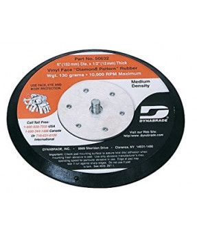 "Dynabrade 50632 6"" Non-Vacuum Disc Backup Pad, Rubber-Face"