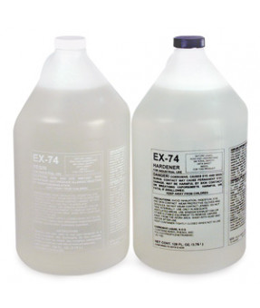EX-74 UV Resistant Clear Epoxy Polymer Kit, Hardener and Resin, 2 Gallon