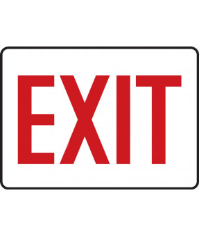 English Admittance & Exit Sign