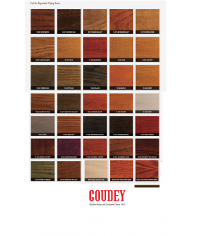 Goudey Maple Solvent-Based Stain Swatche