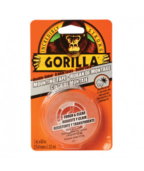 Gorilla Tough & Clear Mounting Tape 1 x 5 Feet