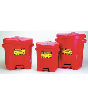 "Oily Waste Can, #937-FL, 14 Gallon, Polyethylene, 22""x18""x21"""