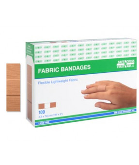 Safecross Standard Cloth Bandaid, 7/8x3, 03026, 100/Box
