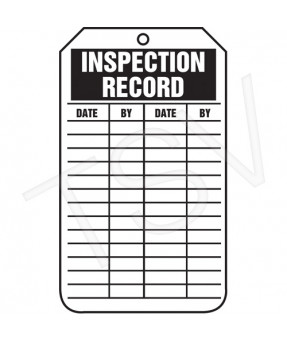 Inspection Tag, 3 1/8 x 5 7/8, 25/pack - meets Occupational Safety and Health Administration requirements