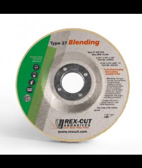 7x 1/4 x 7/8 Rexcut A36 Grinding Wheel,  25 Discs/Box