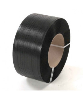 "Black Polypropylene Strapping with 8""x8"" Core, 3/4"" x 4500'"