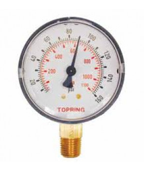 "Topring Standard Pressure Gauge 0-160 PSI, 1-1/2"" - 1/8 NPT CBM"