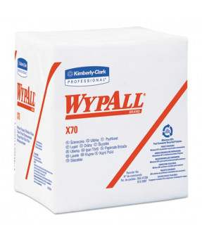 Wypall X70 Wipers 1/4-Fold, 12.5 X 14.4 Inch, White