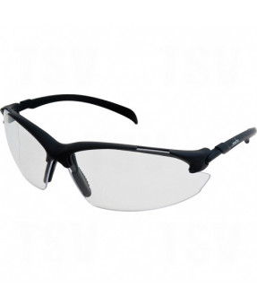 Zenith Safety Glasses, Z1400, Black Frame, Clear Lens